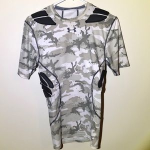 Under armor padded compression shirt